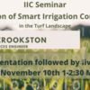 IIC Seminar: Evaluation of Smart Irrigation Controllers