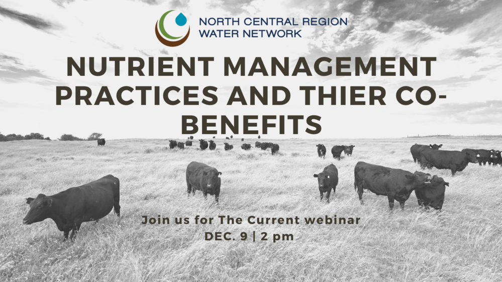 The Current Webinar: Nutrient Management Practices and Their Co-benefits