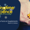 Springtime Science: Get the Facts on Supplements