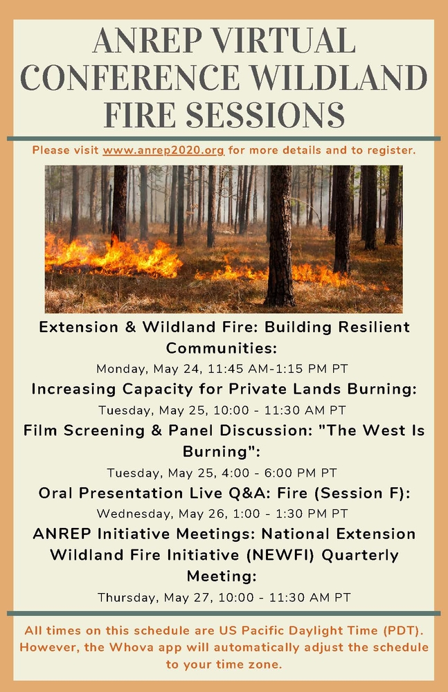 ANREP Conference Fire Sessions