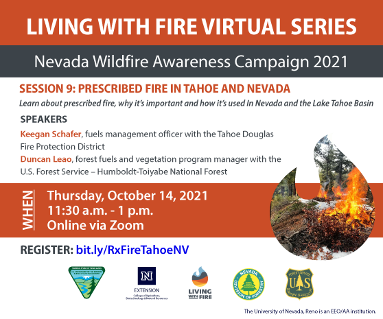 Prescribed Fire in Tahoe and Nevada